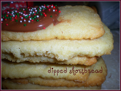 dipped shortbread