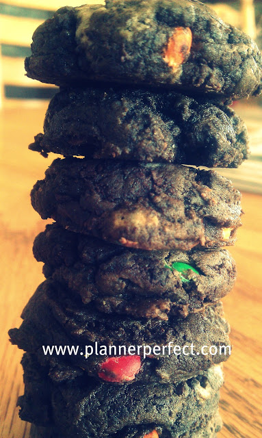 Kid Friendly Foods/ Mini Chocolate Chocolate Chunk Candy Cookies