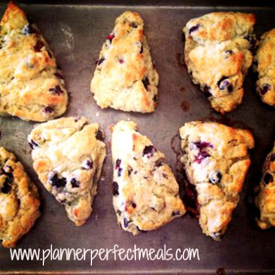 Blueberry Scones with a Lemon Glaze