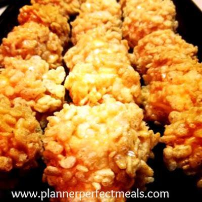marshmallow caramel rice krispy balls