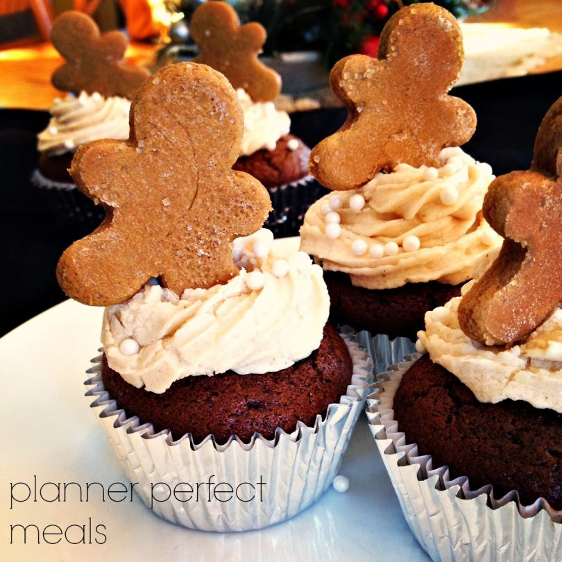 gingerbread cupcakes with brown sugar buttercream