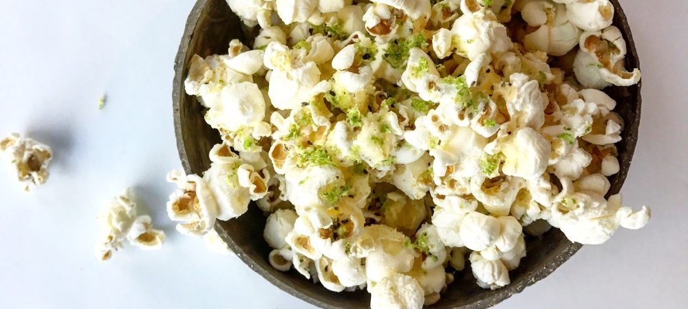 Vegan Lime Zested Popcorn