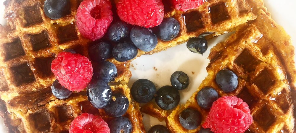 Sweet Potato Vegan Waffles