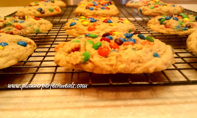 Mini M&M Oatmeal Monster Cookies