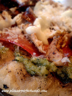 Italian Sausage and Chicken Pesto Pizza