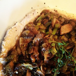 Leek and Mushroom Hummus