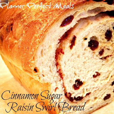 Raisin Cinnamon Sugar Swirl Bread