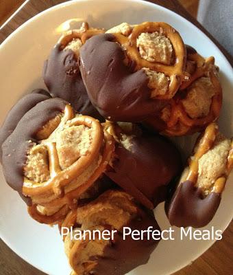 no-bake peanut butter pretzel bites