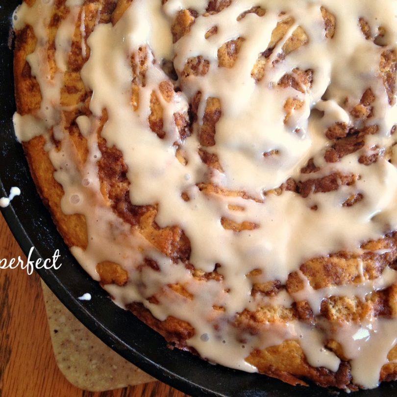 Brown Butter Cinnamon Roll Skillet Cake