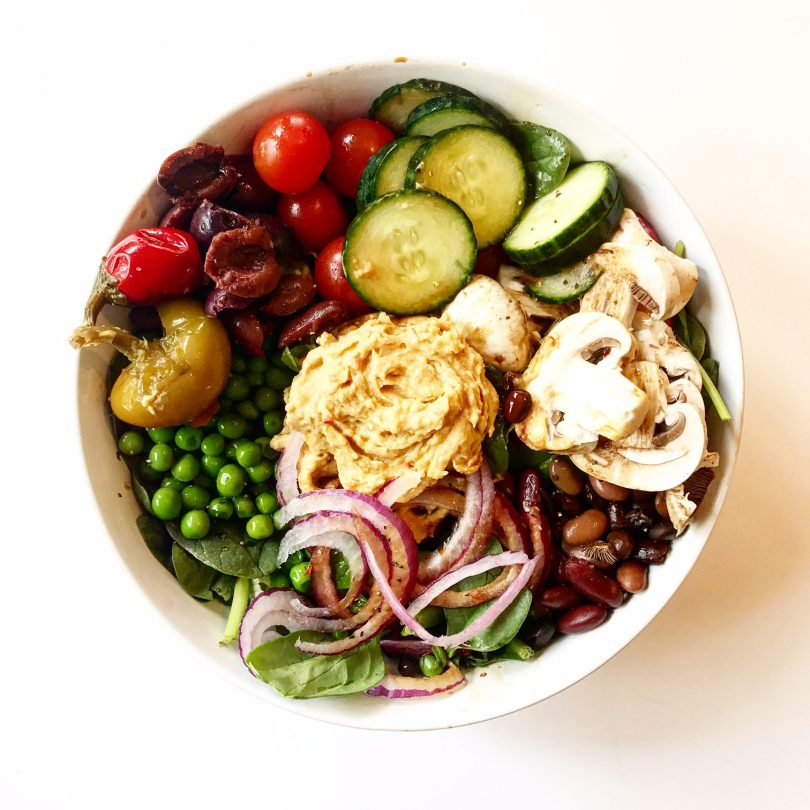 Vegan Salad with Loaded Toppings