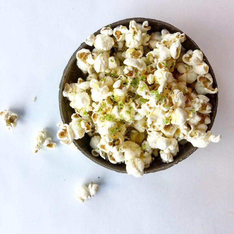 Vegan Lime Zested Popcorn