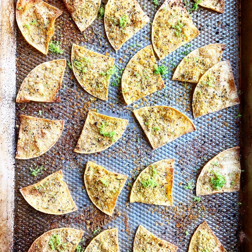 Baked Lime Corn Chips