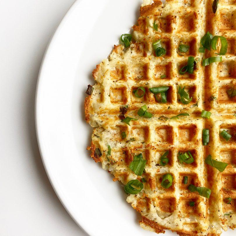 Crispy Vegan Potato Waffle