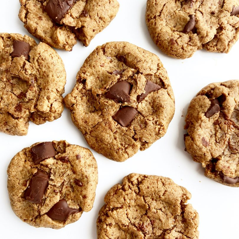 Vegan Gluten Free Chocolate Chunk Cookies